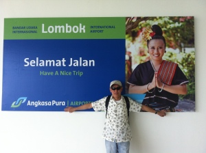 At Lombok International Airport