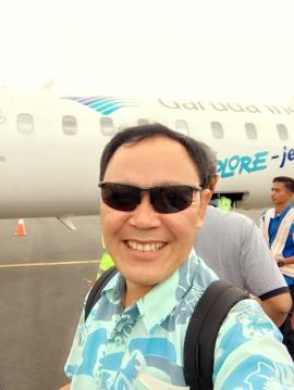 Just landed @Komodo Airport Labuan Bajo