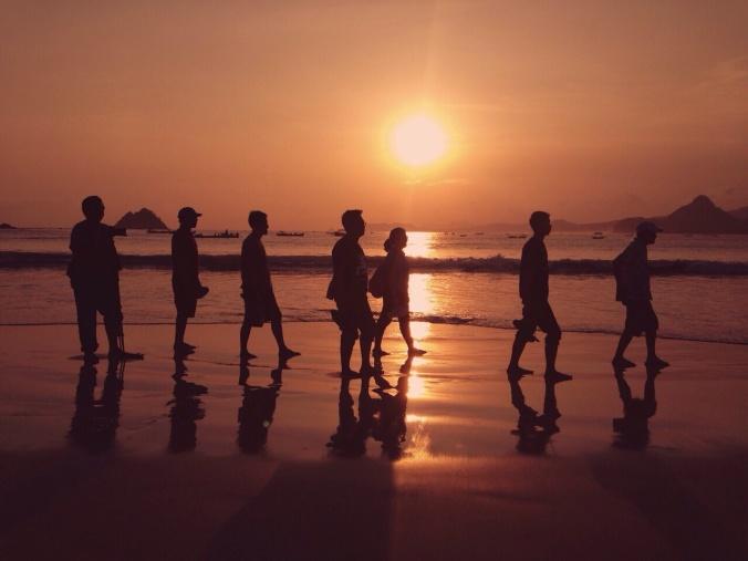 Sunset @Selong Belanak Beach Lombok