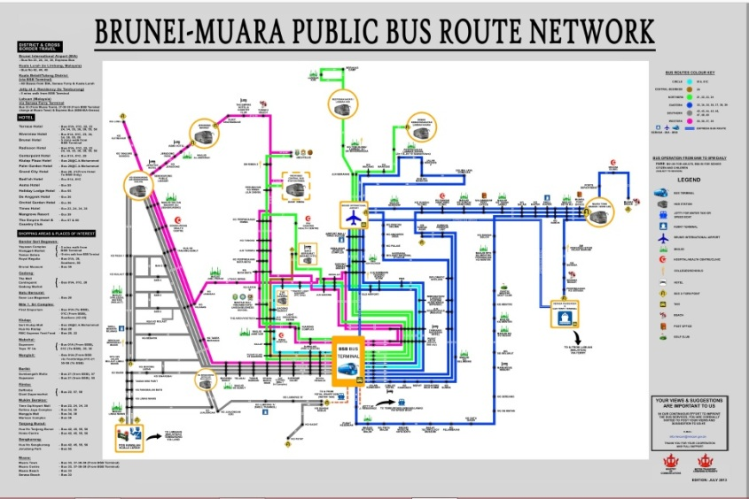 Brunei Bus Route