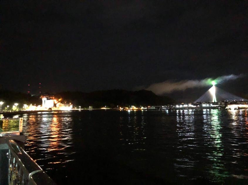 Kampung Air malam hari