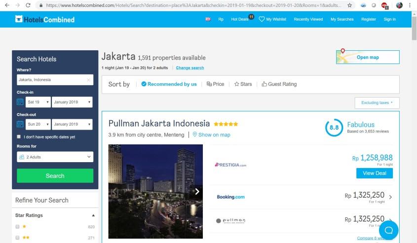 hotelscombined screenshoot
