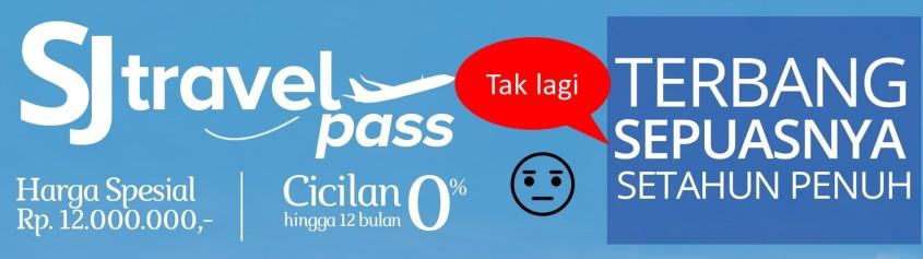 SJ Travel Pass tak lagi terbang sepuasnya