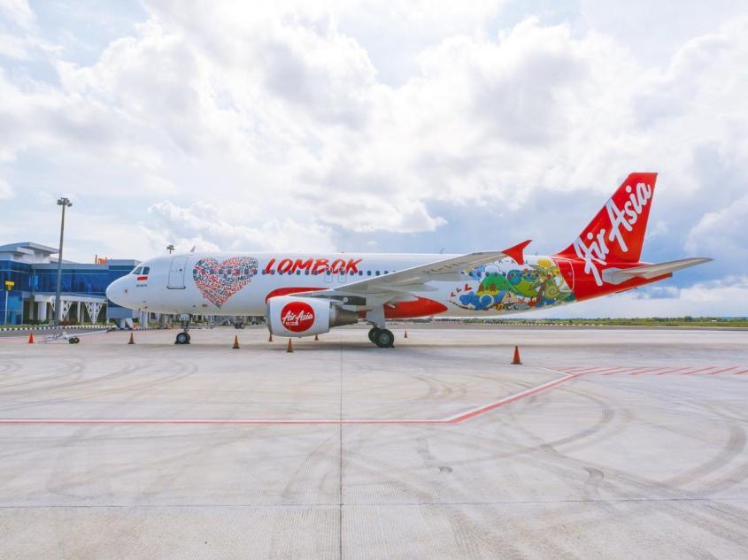 Pesawat AirAsia untuk Lombok (foto : AirAsia)